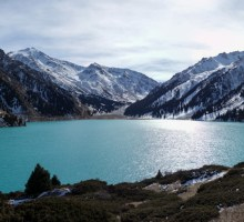 Big Almaty lake in the sunshineBig Almaty lake in the sunshine