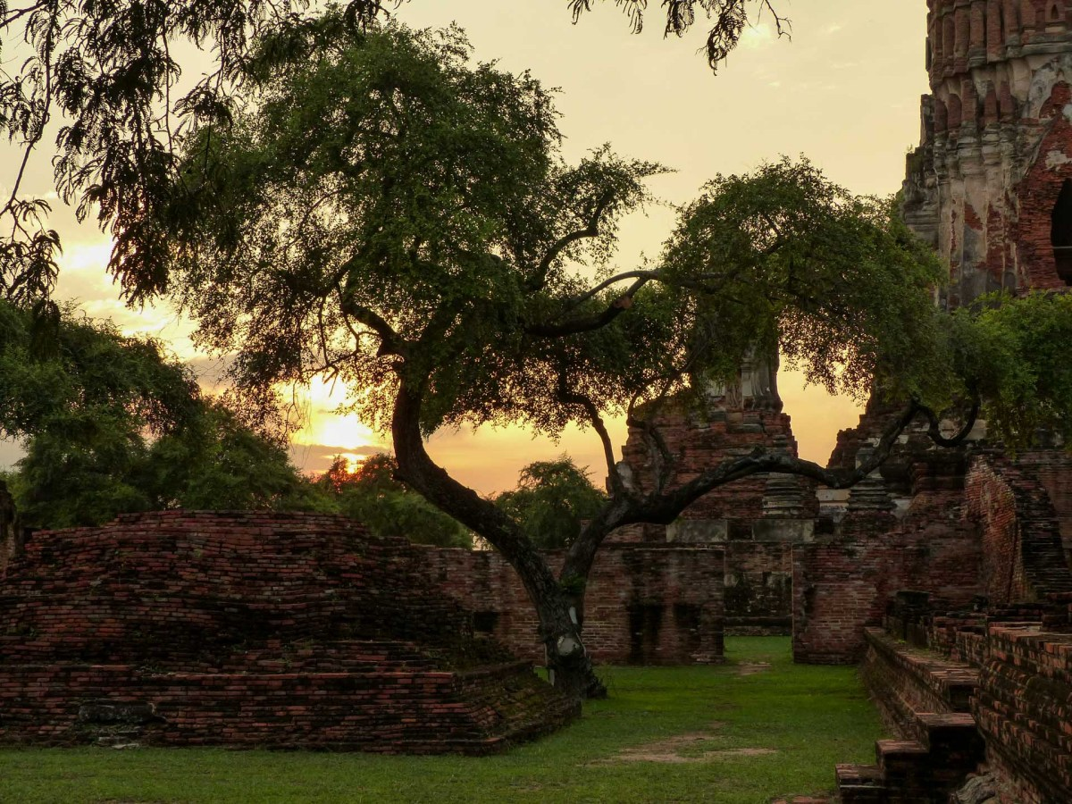 Sunset in Ayutthaya