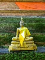 Buddah in yellow garmets in Chiang Mai