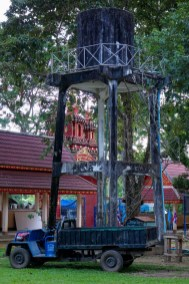 Water tower at Wat Tham Pla - The Monkey Temple
