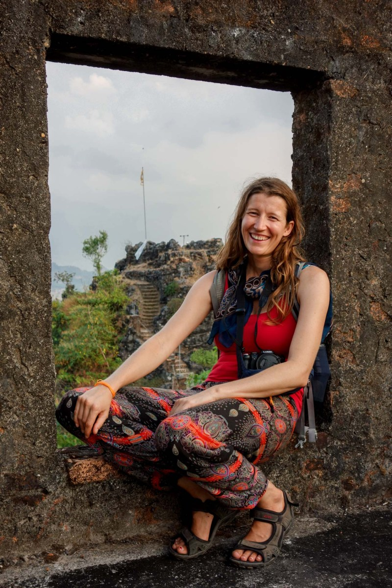 Maria on the mountain top at Kawtka Taung Cave