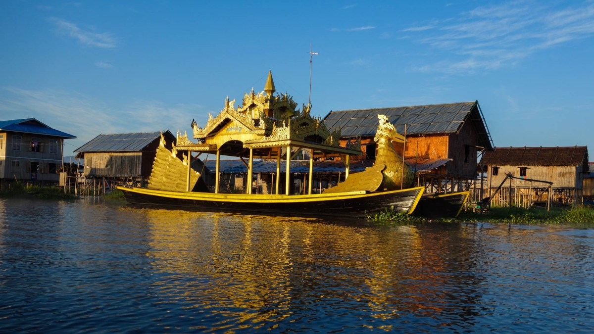 Ceremony boat on Inle Lake