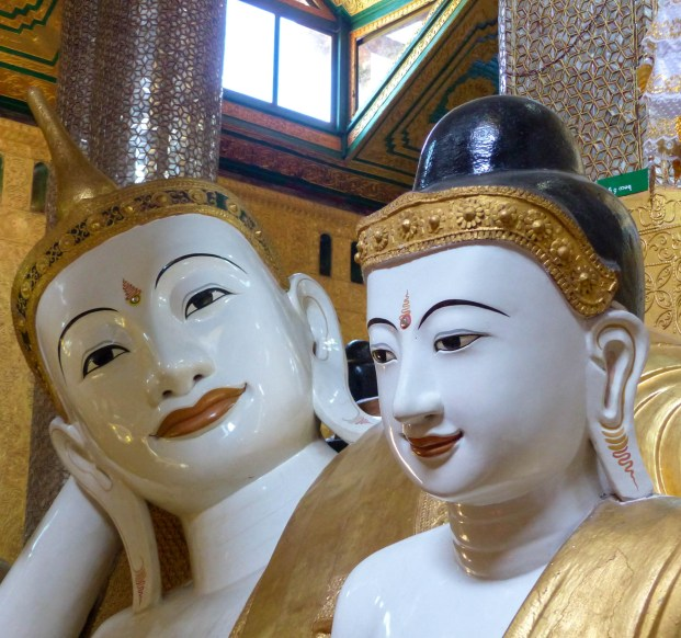 Buddha statues in a temple close to Mawlamyine