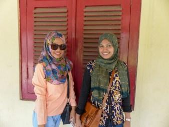 Makassar - Beautiful museum visitors Christian Jansen & Maria Düerkop