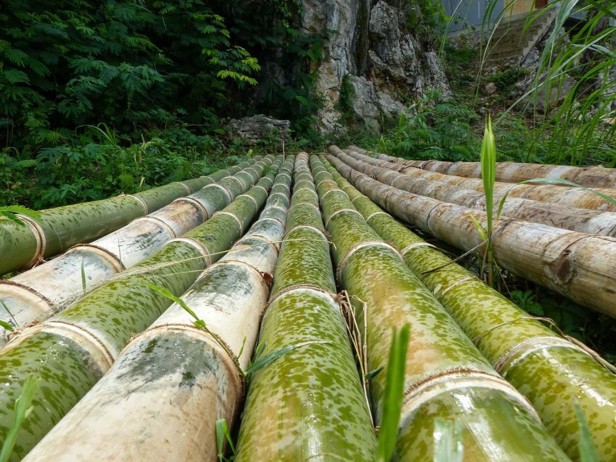 Tana Toraja - bamboo bridge in the rain Christian Jansen & Maria Düerkop