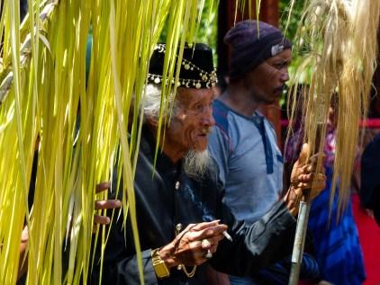 Tana Toraja Funeral Ceremony - old parade master Christian Jansen & Maria Düerkop
