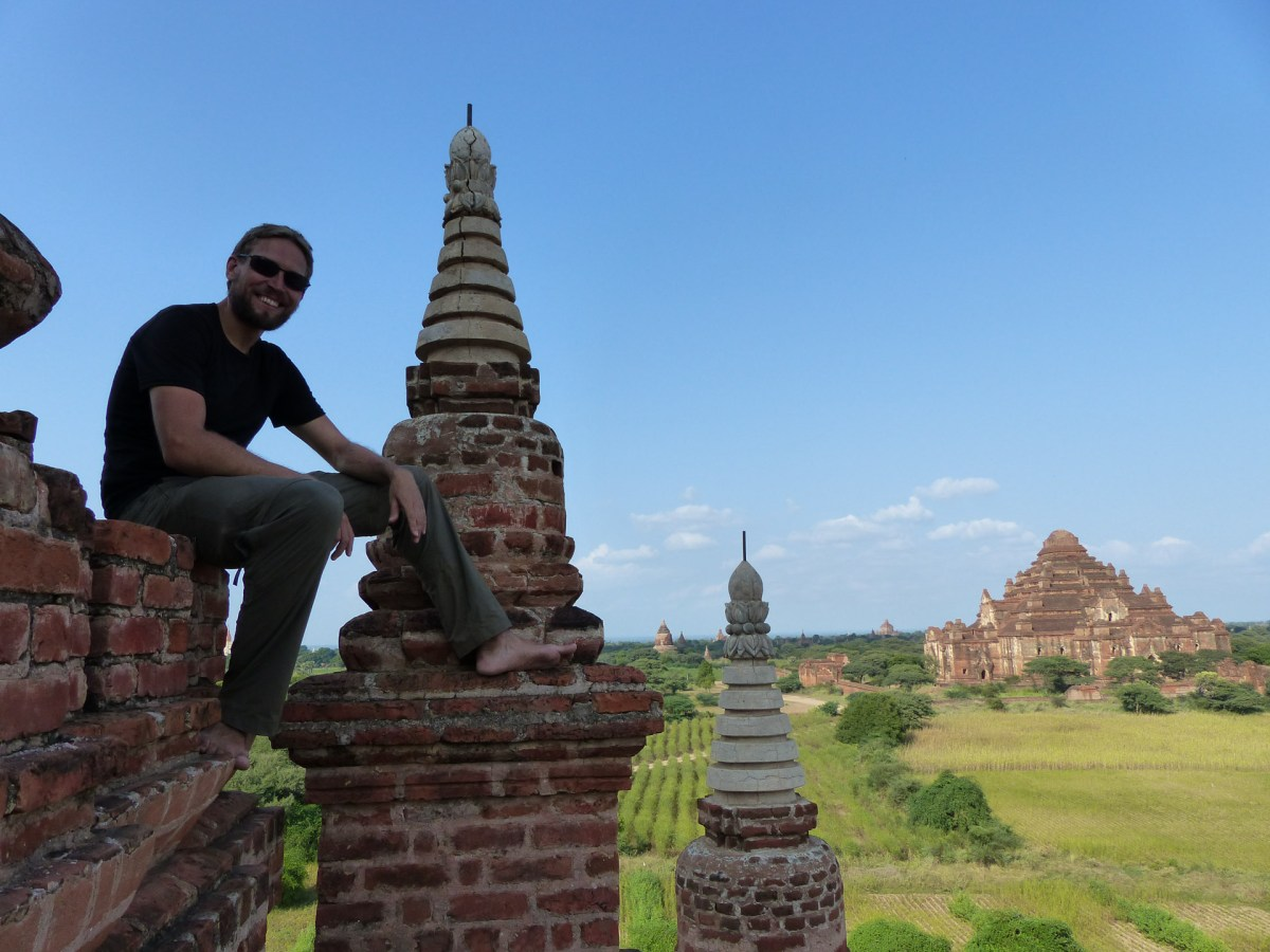 Chris on top of a Bagan temple Christian Jansen & Maria Düerkop