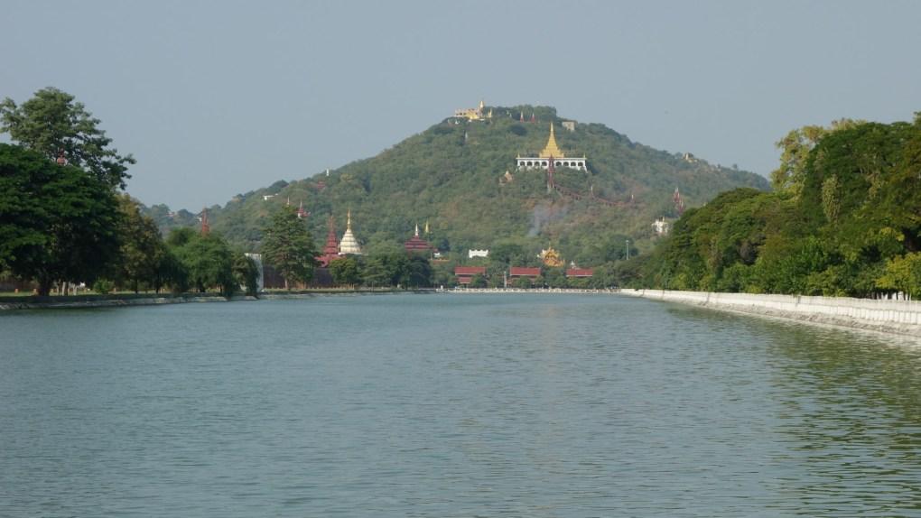 Mandalay Royal Palace - Water trench and view on Mandalay hill Christian Jansen & Maria Düerkop