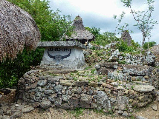Sumba - ornamented tomb in village Christian Jansen & Maria Düerkop
