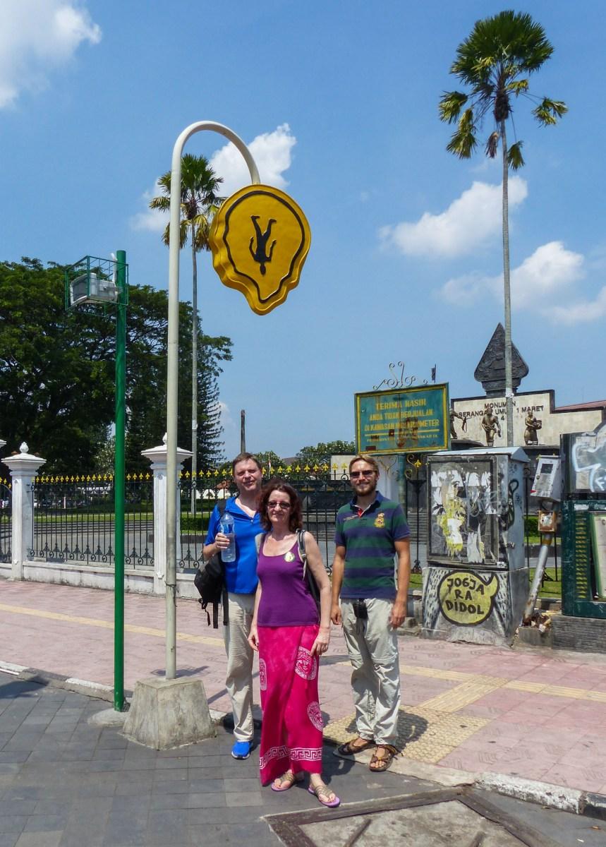 Yogyakarta - Christian, Wioleta and Joachim in the streets Christian Jansen & Maria Düerkop