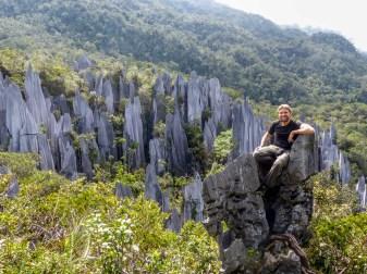 Mulu National Park - Chris at the Pinnacles Christian Jansen & Maria Düerkop
