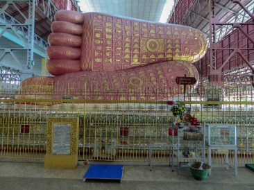 Yangon - Large reclining Buddhas feet Christian Jansen & Maria Düerkop