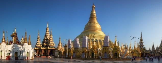 Yangon - Shwedagon Pagoda panorama Christian Jansen & Maria Düerkop