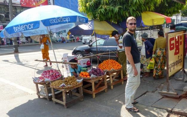 Yangon - Chris in the streets of Little India Christian Jansen & Maria Düerkop