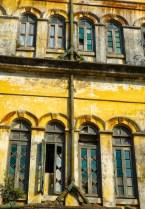 Yangon - Unrestored colonial facade Christian Jansen & Maria Düerkop