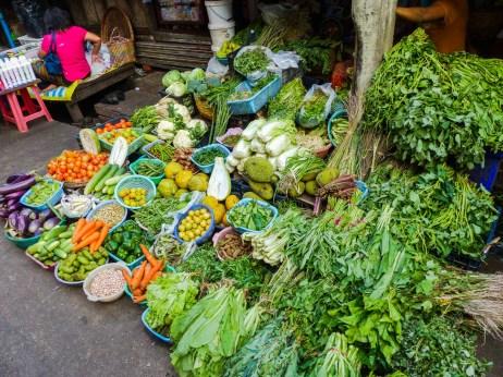 Yangon - Vegetable market stand Christian Jansen & Maria Düerkop