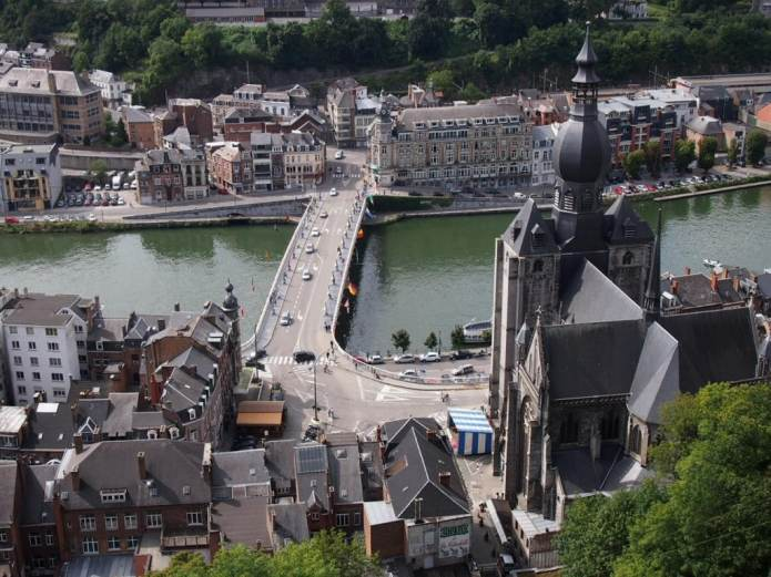 View of the Collegiate Church and the Meuse from the Citadel in Dinant