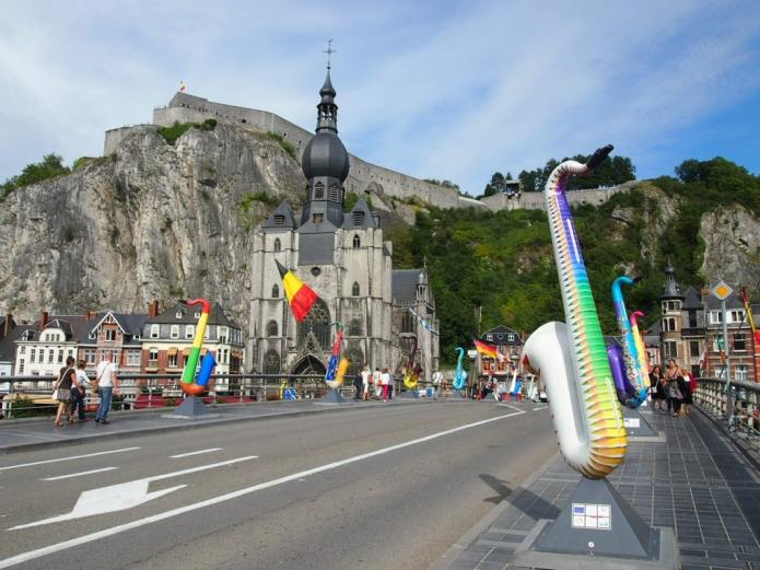 Dinant in a Nutshell: Citadel, Church and Saxophones