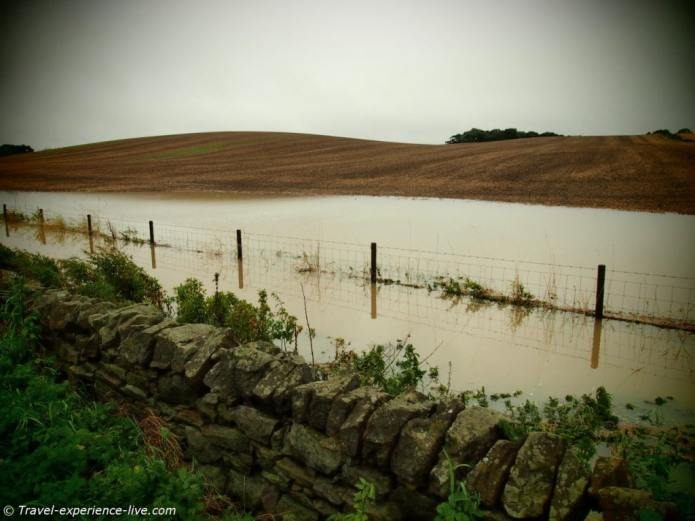 Floodings on the Hadrian's Wall Path