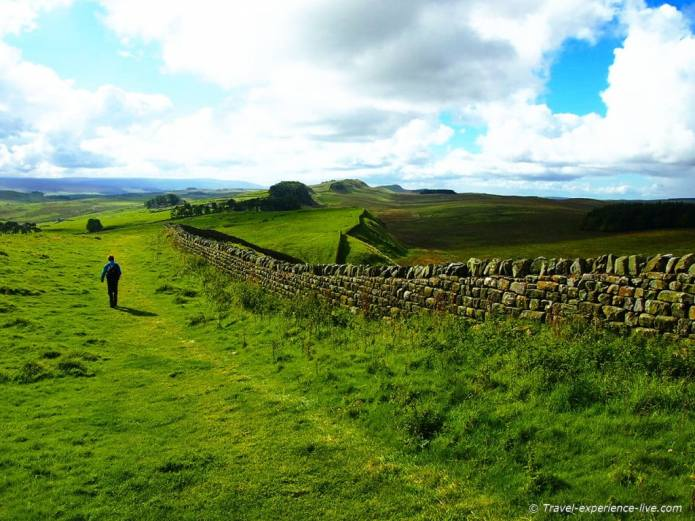 Stunning views on the Hadrian's Wall Path in England
