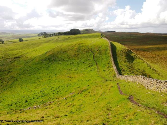 Stunning view on the Hadrian's Wall Path in England