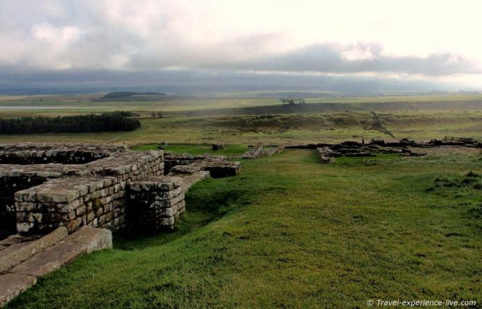 Housesteads Roman Fort near Hadrian's Wall