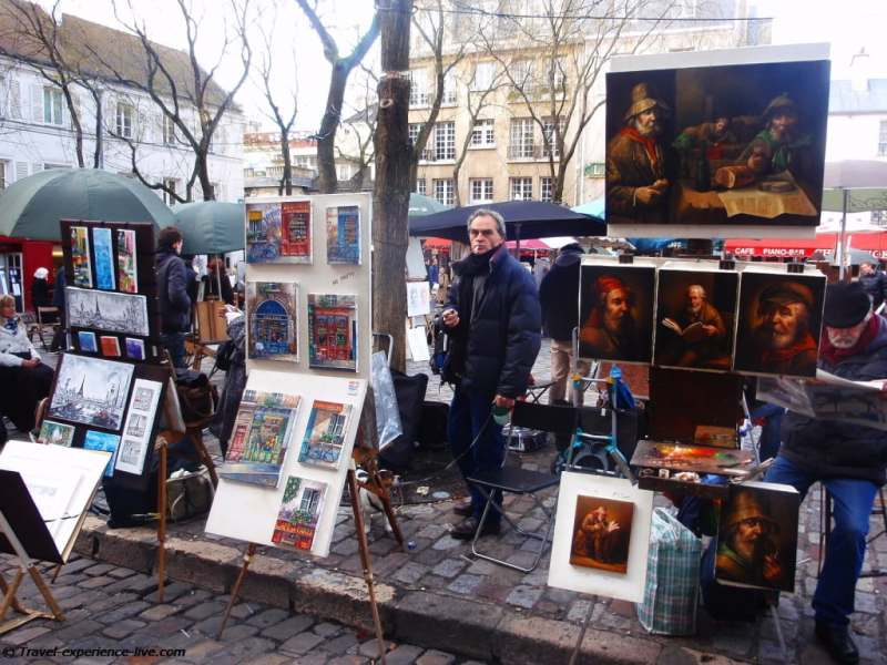 Painters in Montmartre.