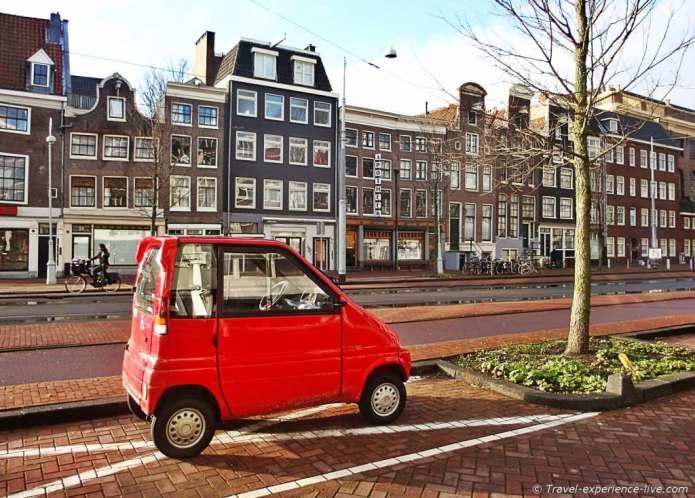 Little car in Amsterdam.