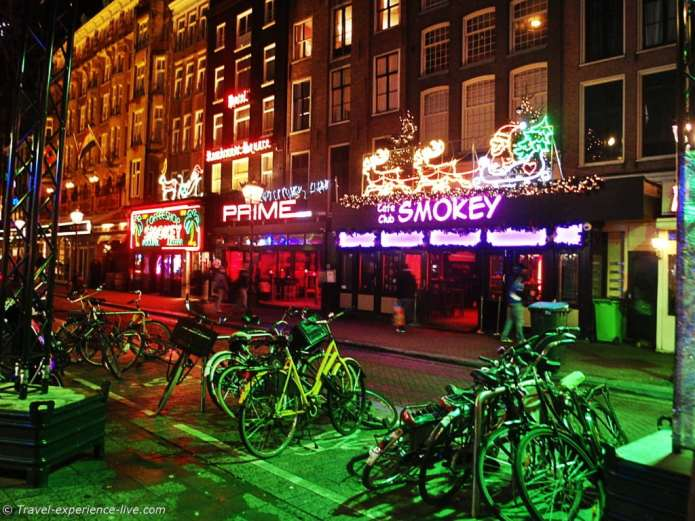 Coffeeshops in Amsterdam, Netherlands.
