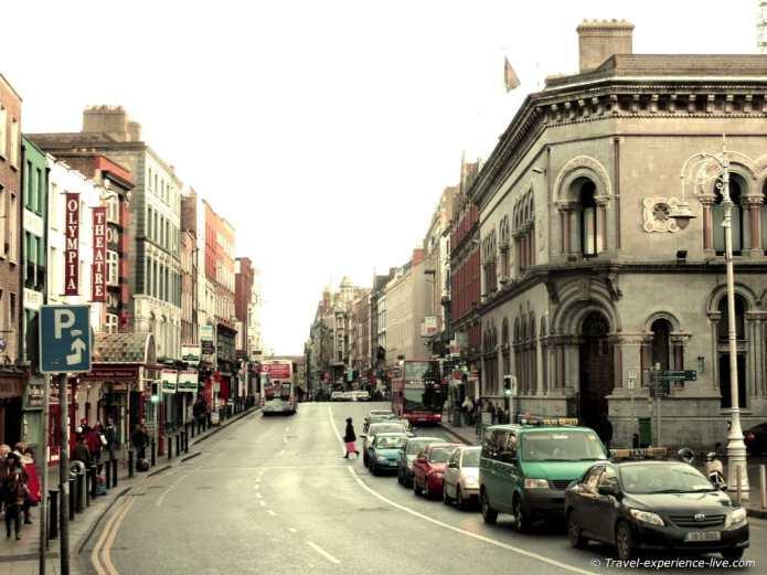 Lord Edward Street in Dublin, Ireland.