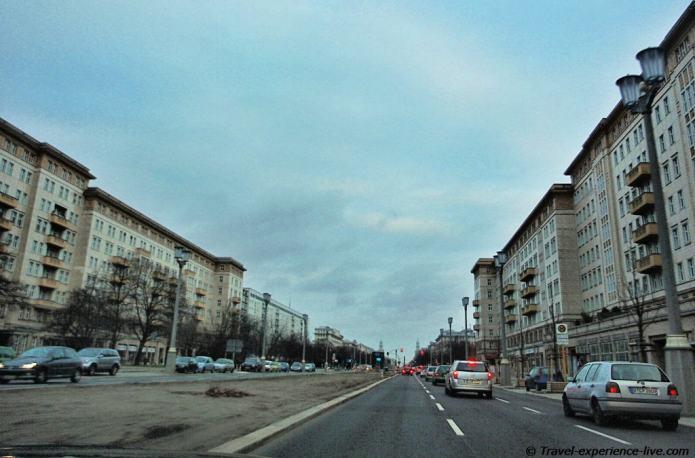 Karl-Marx-Allee in former East Berlin.