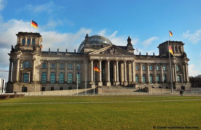 Reichstag in Berlin, Germany.
