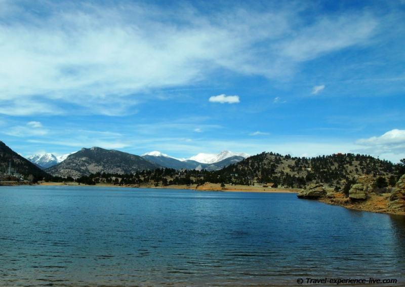 Lake in the Rocky Mountains, Colorado.