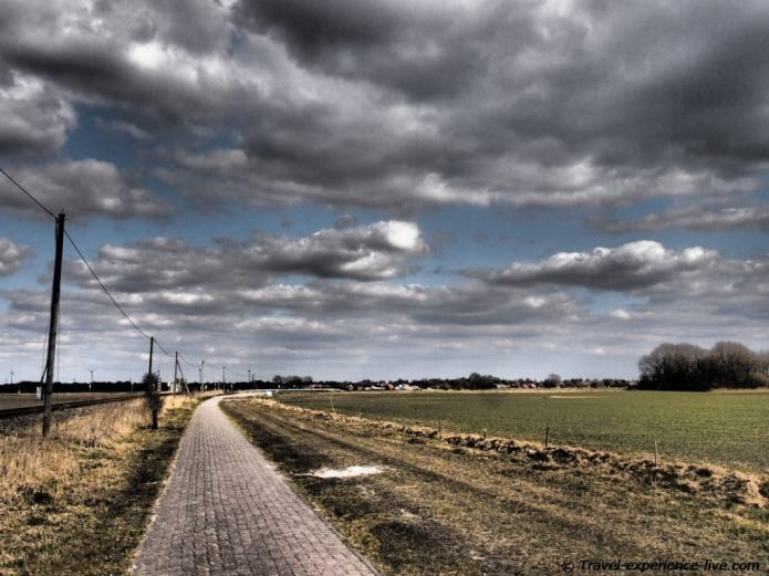Bike path in the Netherlands.