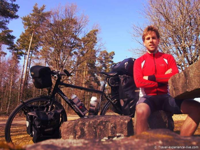 Cycling in Sweden.