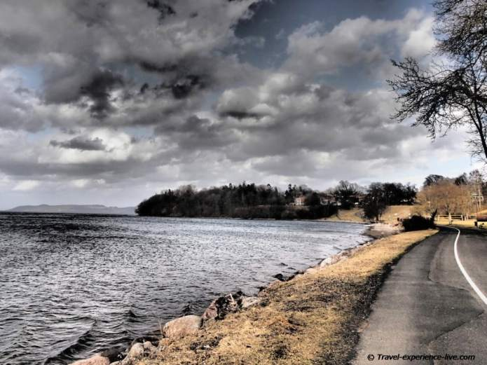 Vättern, the second largest lake in Sweden.