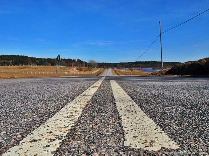 Road in Sweden.