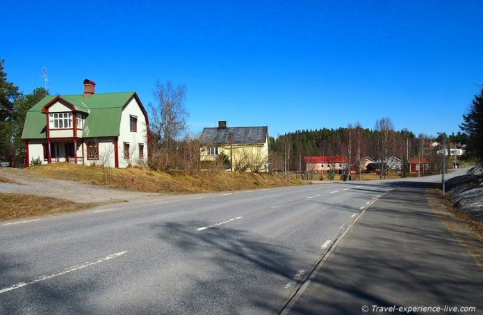 Colorful Swedish houses.
