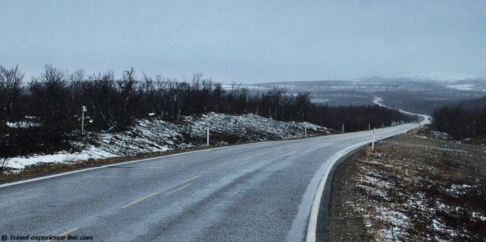 E6 in Finnmark, Norway.