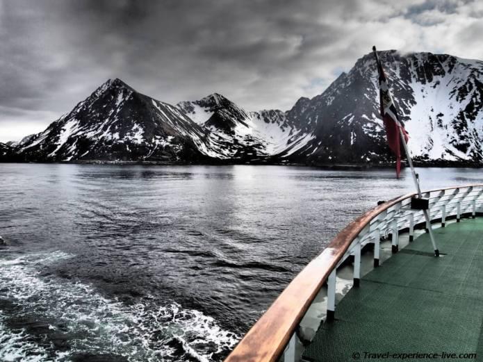 Fjords on Hurtigruten.