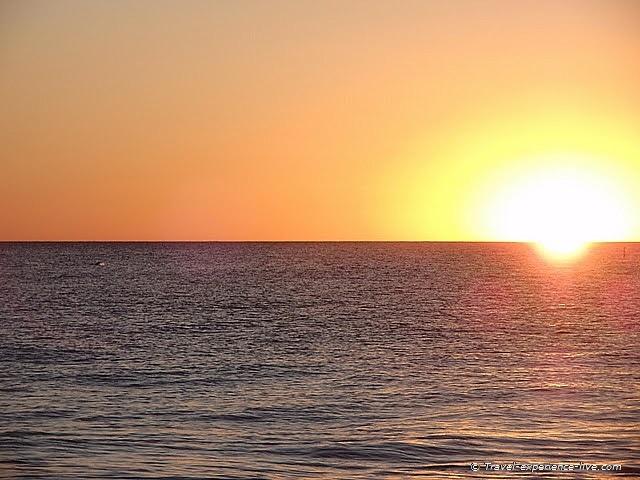 Beach sunset in Bunbury, Western Australia.