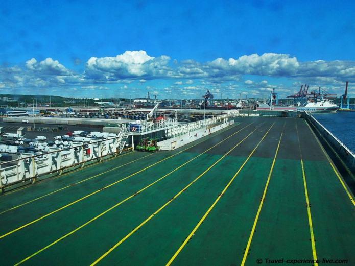 Cargo ship deck, Gothenburg.