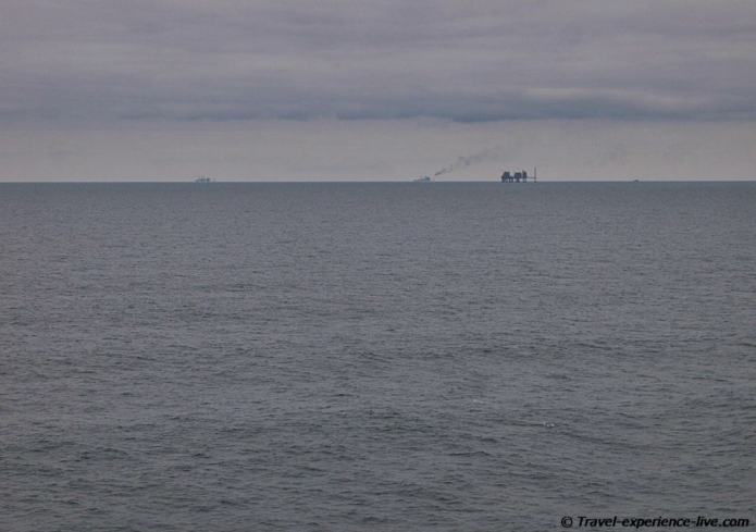 North Sea oil rig.
