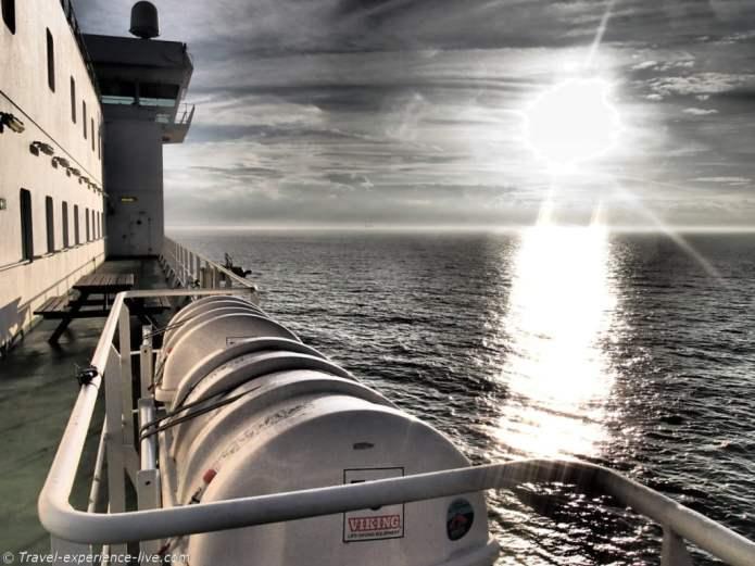 Cargo ship at North Sea.