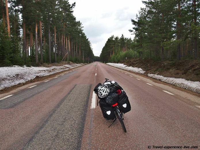 Cycle touring in Sweden.