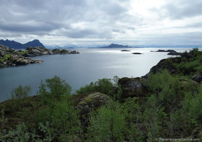 Landscape in Lofoten, Norway.