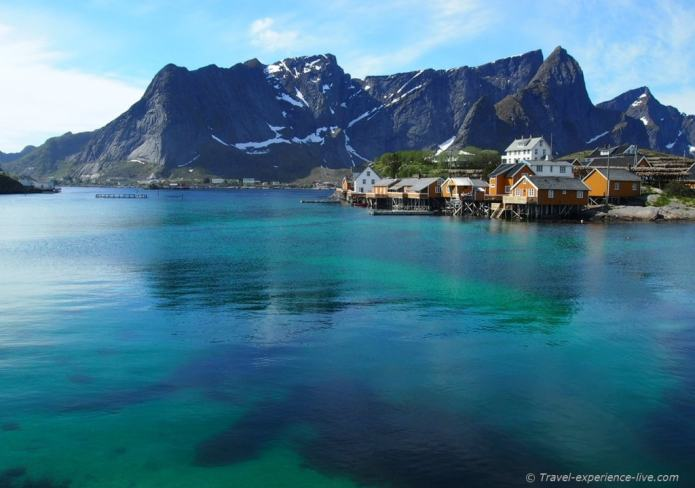 Village on Lofoten, Norway.