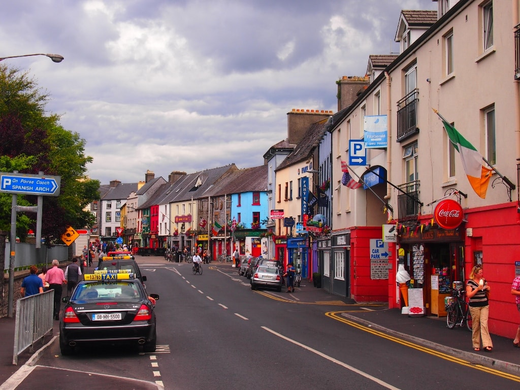 Colorful streets in Galway, Ireland.