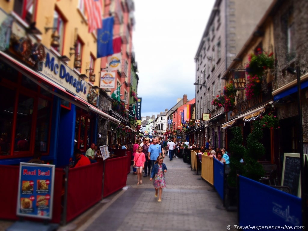 Shop Street in Galway, Ireland.