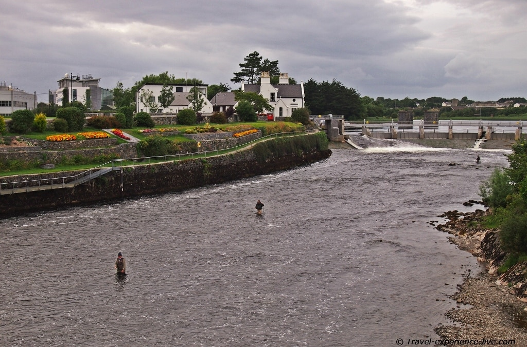 Salmon fishing in the Corrib, Galway.